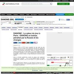DANONE : La valeur du jour à Paris - DANONE en baisse, pénalisé par la Russie et les changes