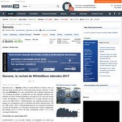 Danone, le rachat de WhiteWave attendra 2017