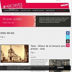 Des documents de Toulouse archives pour la classe