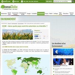 OGM dans quels pays sont-ils autorisés