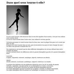 Dans quel sens la danseuse tourne t-elle ?