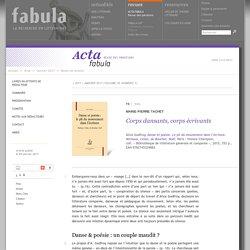 Corps dansants, corps écrivants (Acta Fabula)