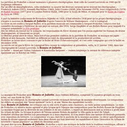 Danse - Roméo et Juliette
