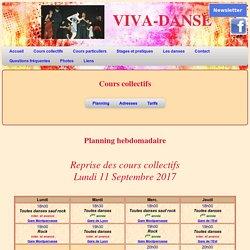 VIVA-DANSE________Danses de loisir en couple >> Cours, horaires, tarif