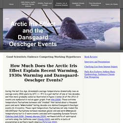 Arctic Iris Effect Dansgaard Oeschger Events and Failed Climate Models