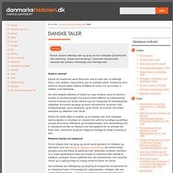 Danske taler - danmarkshistorien.dk