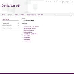 Dansksiderne: Tekstanalyse