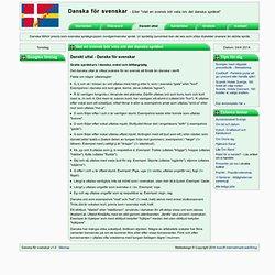 Danskt uttal - Danska för svenskar