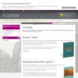 Grundbøger til danskundervisning for voksne udlændinge