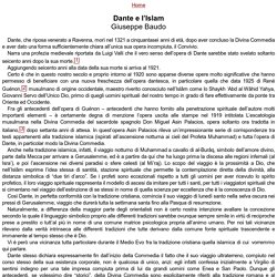 Dante e l'Islam