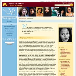 Edwidge Danticat : Voices From the Gaps : University of Minnesota