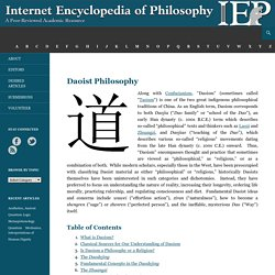 Daoist Philosophy