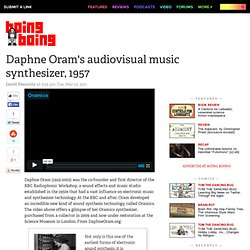 Daphne Oram's audiovisual music synthesizer, 1957