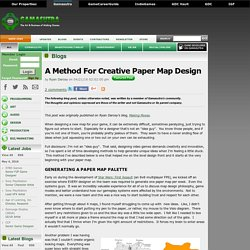 Ryan Darcey's Blog - A Method For Creative Paper Map Design