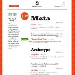 Darden Studio : typefaces