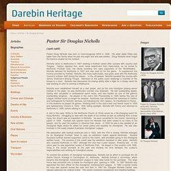 Darebin Heritage - Sir Douglas Nicholls