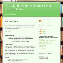 TPACK Lesson Plan