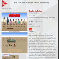 Darfur is Dying - Games For Change