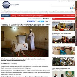First day of Sudan's Darfur referendum going on smoothly