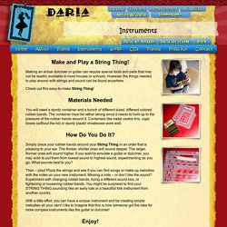 Daria - World Music for Children - Make a String Thing