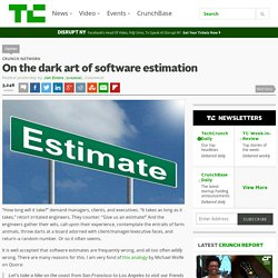 On the dark art of software estimation