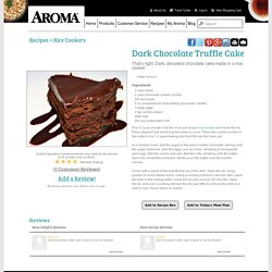 Dark Chocolate Truffle Cake Recipe