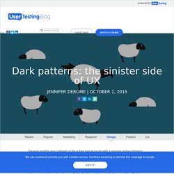 Dark Patterns: The Sinister Side of UX