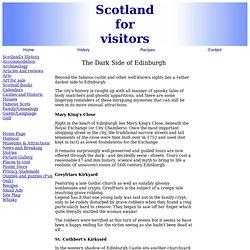 The dark side of Edinburgh Scotland