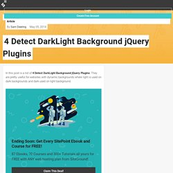 4 Detect DarkLight Background jQuery Plugins