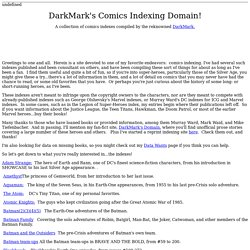 DarkMark's Comics Indexing Domain