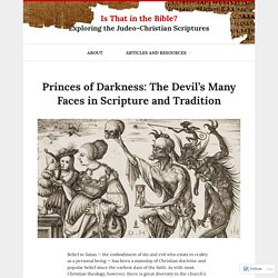 Princes of Darkness: The Devil's Many Faces in Scripture and Tradition