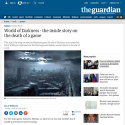 World of Darkness - the inside story on the death of a game