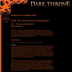 Darkthrone strategy guide