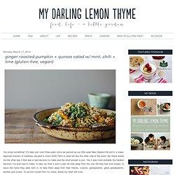 ginger roasted pumpkin + quinoa salad w/ mint, chilli + lime {gluten-free, ve...