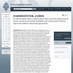 DARMESTETER, JAMES