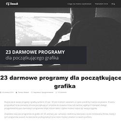 23 darmowe programy dla początkującego grafika - CG Smash