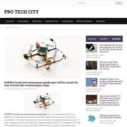 DARPA's brand new autonomous quadcopter