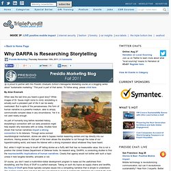 Why DARPA is Researching Storytelling