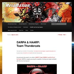 DARPA & HAARP: Team Thundercats