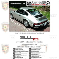 DarrylD's Porsche 911 Restoration Project Journal