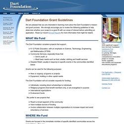 Dart Foundation - Grants