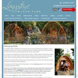 Camping Pods on Dartmoor at Langstone Manor, Devon