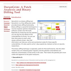 DarunGrim: A Patch Analysis and Binary Diffing Tool