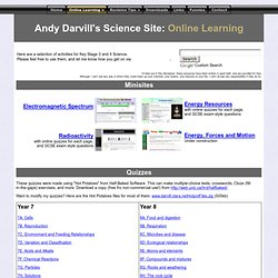 Andy Darvill's Science site: Online Learning