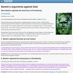 Darwin S Theory Of Natural Selection Against The Design Argument
