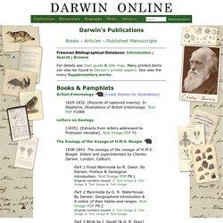 Darwin Online: Darwin's Publications