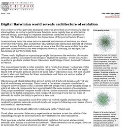 Digital Darwinian world reveals architecture of evolution