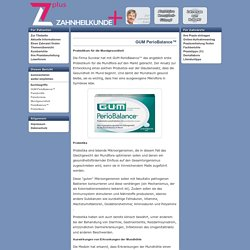 Das Probiotikum GUM PerioBalance™