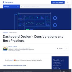 Dashboard Design - Considerations and Best Practices