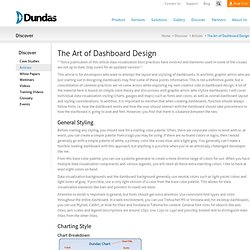 The Art of Dashboard Design